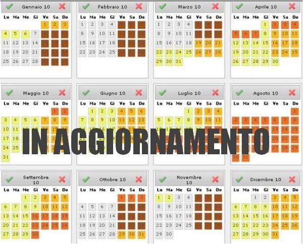 Calendario Alta-Media-Bassta Stagione